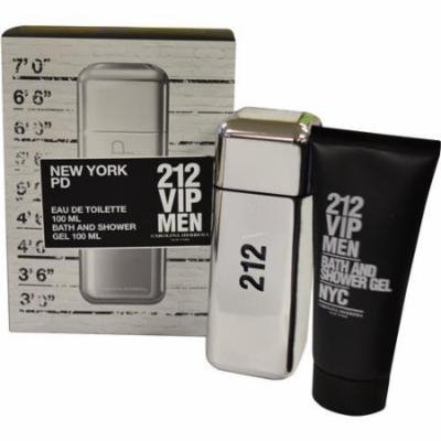 212 Vip Set-Edt Spray 3.4 Oz & Shower Gel 3.4 Oz By Carolina Herrera