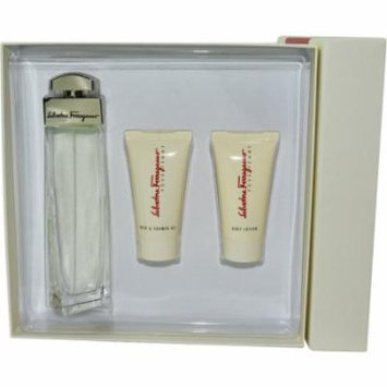Salvatore Ferragamo Set-Eau De Parfum Spray 3.4 Oz & Body Lotion 1.7 O