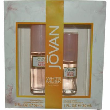 Jovan White Musk Set-Cologne Spray 2 Oz & Cologne Spray 1 Oz By Jovan