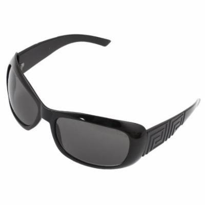 Black Single Bridge Full Rim Gray Lens Sunglasses Eyeglasses for Unisex