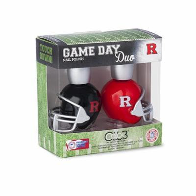 RUTGERS SCARLET KNIGHTS GAME DAY DUO NAIL POLISH SET-RUTGERS UNIVERSITY NAIL POLISH-INCLUDES 2 BOTTLES AS SHOWN