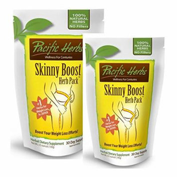 2 Pacific Herbs Skinny Boost Herb Packs - Weight Loss Supplement - 60 Day Supply, Supports Weight Loss, Pure Herbal Extract improves bowels and metabolism