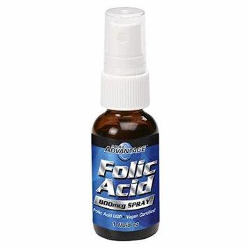 Pure Advantage Folic Acid Spray USP 800mg 1oz (50515)