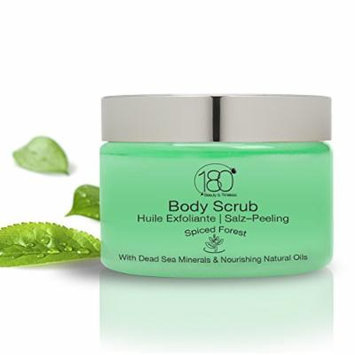180 Cosmetics Salt and Oil Body Scrub Spiced Forest - Nourishing and Exfoliating Dead Sea Salt
