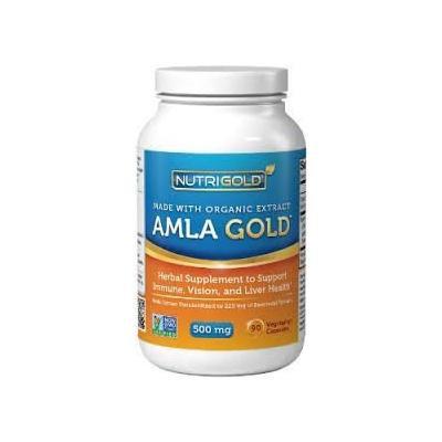 Organic Amla GOLD - Antioxidant Support - 500 mg (90 veg. capsules) + Free Complimentary Vitamin E Moisturizing Lip Balm
