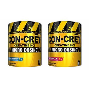 ProMera CON-CRET Blue Raspberry 48 Servings/Watermelon 48 Servings (1 of each)