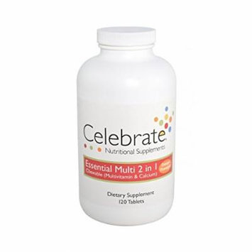 Celebrate Essential Multi 2 in 1 (Multivitamin & Calcium) Orange-Pineapple 120 ct.