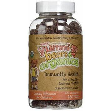 Yummi Bears Organics Immunity Health - 2 Bottles, 180 Gummies Each