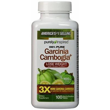 Purely Inspired Garcinia Cambogia Plus Tablets, 100 Count Pack of 6