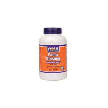 Now Foods Panax Ginseng, 250 Caps 500 mg (Pack of 2)