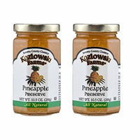 Kozlowski Farms - Specialty Preserves - Kosher KSA - Pineapple Preserve - 2 Pack (10.5 oz each)
