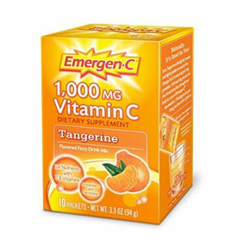 Emergen-C 1000 mg Vitamin C Travel Box, Tangerine 10 packets Pack of 5