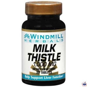 Windmill Milk Thistle 1000 Mg 30 Tablets Pack of 4