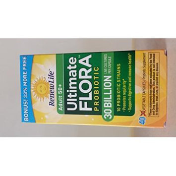Renew Life Ultimate Flora Adult 50+ 30 Billion, 40 capsules (10 free caps)