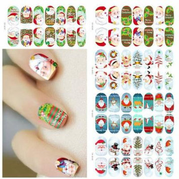 MaxMaxi Christmas Holiday Xmas Noctilucent Nail Art Decals Stickers (5PCS, Christmas)
