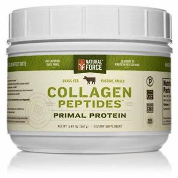 Natural Force Collagen Protein Grass Fed Collagen Hydrolyzed - Natural Collagen Peptides Paleo Protein Powder, 5.87 oz.