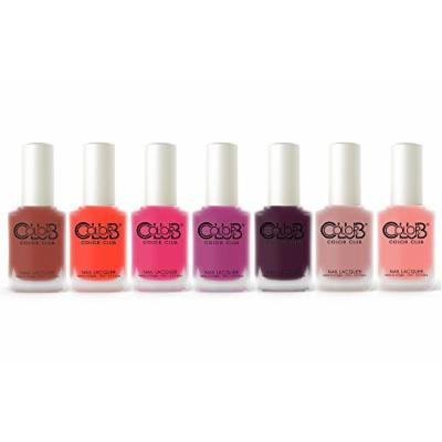 Color Club Matte Rouge Collection Fall 2015 Nail Lacquer Set of 7 Colors