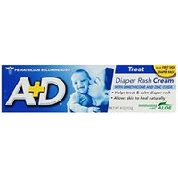 A+D Diaper Rash Cream, Dimethicone Zinc Oxide Cream, 4 oz (113 g) (Pack of 1)