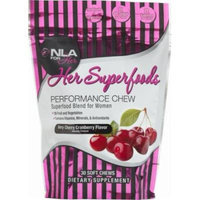 NLA For Her Superfoods Performance Chew, Very Cherry Cranberry, 30 Count