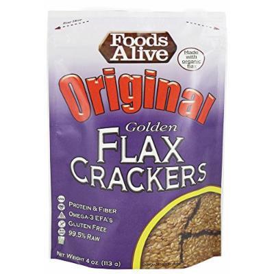 Foods Alive - Organic Golden Flax Crackers Original - 4 oz
