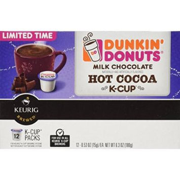 Dunkin Donuts Milk Chocolate Hot Cocoa K-Cups - 48 Count