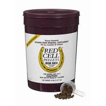 Farnam 4 lbs Red Cell Pelleted Formula Iron Rich Vitamin Supplement and Selenium and Biotin