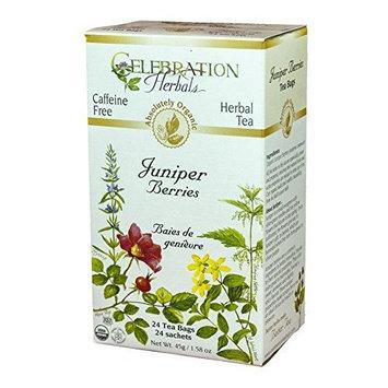 Celebration Herbals Organic Juniper Berries Tea Caffeine Free -- 24 Herbal Tea Bags