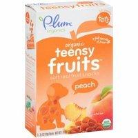 Plum Organics Tots Teensy Fruits Peach Soft Real Fruit Snacks, .35 oz, 5 count, (Pack of 8)