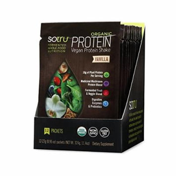 SoTru Organic Protein Shake, Vanilla, 12 Count