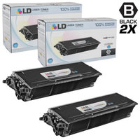 LD Compatible Brother TN580 Set of 2 High Yield Black Laser Toner Cartridges