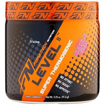 Formutech Nutrition Level II Super Thermogenic, Clean Energy Pre Workout Fat Burner with Appetite Suppression, Bubble Gum, 50 Servings