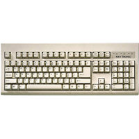 Keytronic PS2 Compact Keyboard, 104-Key, Gray
