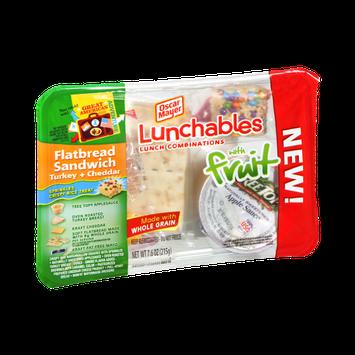 Lunchables Oscar Mayer with Fruit and Flatbread Sandwich Turkey & Cheddar