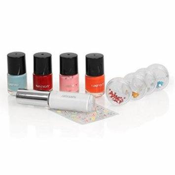 Ivation Nail Art Set Including 4 Polishers 4 Nail Gems Nail Art Pen and Nail Stickers
