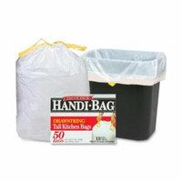 WEBSTER INDUSTRIES Drawstring Trash Bags, 13 Gal., 0.7 mil, 24''x27'', 50 per Box, White