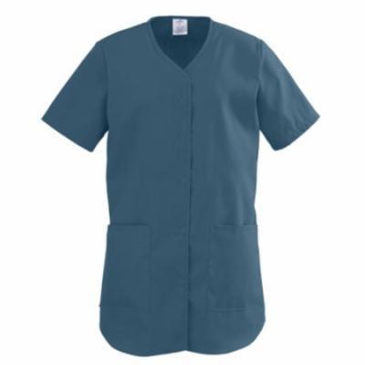 ComfortEase Ladies Shirttail Scrub Tops,Caribbean,JCB 8834JCBXS
