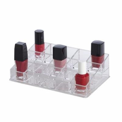 Clearly Chic 15 Compartment Nail Polish Organizer