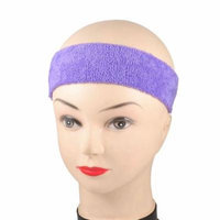 Women Hairstyle DIY Purple Stretchy Headband Hair Band 2 Pcs