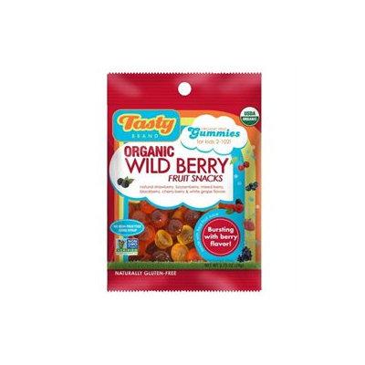 Tasty Brand - Organic Wild Berry Fruit Snacks Gummies For Kids 2-102 - 2.75 oz.
