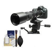 Rokinon 500mm f/8 Telephoto Lens with 2x Teleconverter (=1000mm) for Sony Alpha DSLR SLT-A35, A37, A55, A57, A65, A77 Digital SLR Cameras