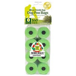 Green N Pack Eco Friendly Green Bone Dispenser Refill Bags, 8 - 20 count rolls