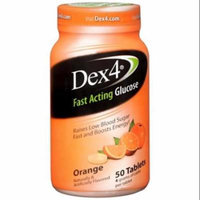Dex4 Glucose Tablets, Orange 50 ea