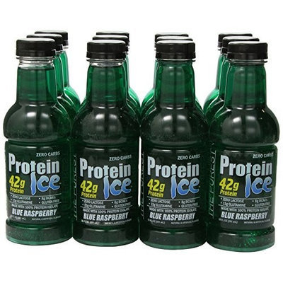 Adv Nutrient Sci Int Advanced Nutrient Science Protein Ice - 20fl oz Bottles Blue Raspberry Protein