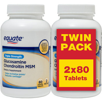 Equate Triple Strength Glucosamine Chondroitin MSM Tablets