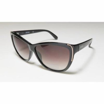 Kenneth Cole 1253 60-12-140 Black / Gold Full-Rim Sunglasses