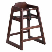 Stackable Walnut Baby High Chair
