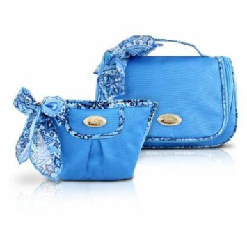 Jacki Design Summer Bliss 2-Piece Toiletry and Cosmetic Travel Bag Set