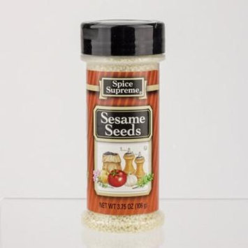 Pack of 12 Spice Time Hulled Sesame Seed Seasonings 3.75 oz. #30840