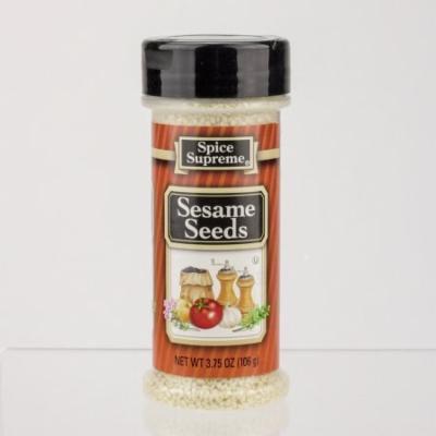 Pack of 12 Spice Time Hulled Sesame Seed Seasonings 3.75 oz. #30840