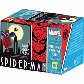 Marvel Spider-Man Daily Bugle Breakfast Blend Medium Roast Coffee Single Serve Packs, .32 oz, 10 count
